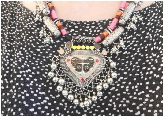 "I have a ""uniform"" for week days - jeans, top and I try to add nice details, like this beautiful Amaro necklace"