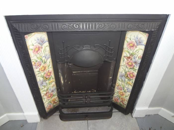 Lovely fireplace tiles