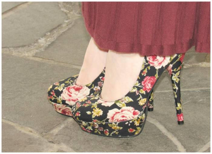 Floral black shoes, Missguided
