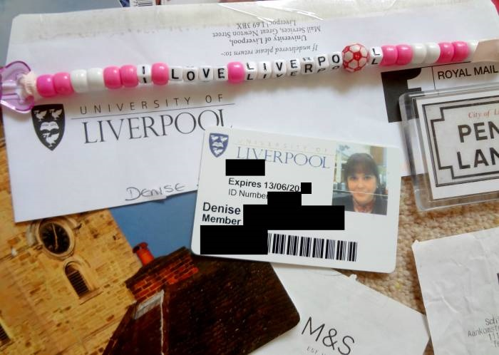 Member of the University Library! Closed names and numbers for security reasons, of course :) And some Liverpool souvenirs :)