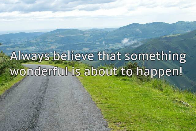 Wonderful things quote