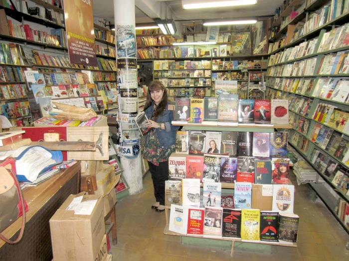 One of the many bookshops I have been visiting!
