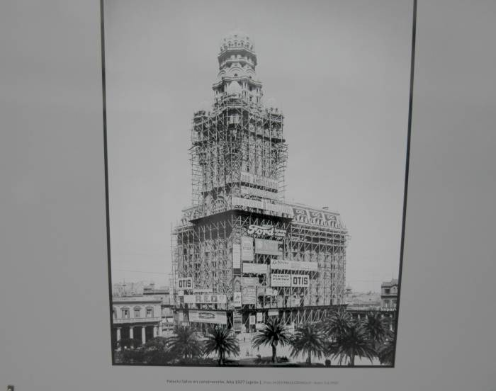 Salvo Palace in 1927, being built. An open air exhibition I went to