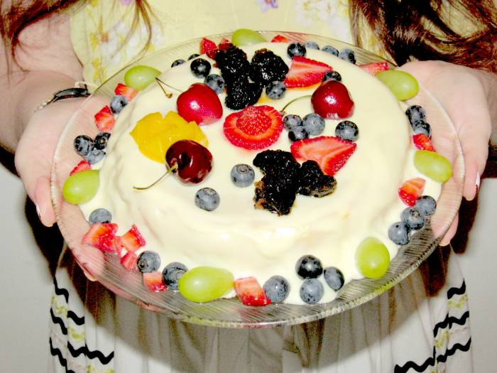Fruit cake I prepared to celebrate with friends!