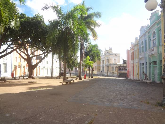 Colonial architecture downtown Joao Pessoa